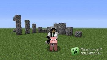 Скачать Craftable saddles and controllable pigs для minecraft 1.2.5 бесплатно