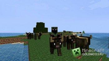 Скачать Buffalo NPC Mod v3.2 для minecraft 1.2.5 бесплатно