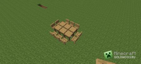 Скачать Table Set Mod для Minecraft 1.4.7 бесплатно