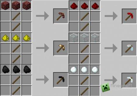 Скачать More Pickaxes для minecraft 1.4.7 бесплатно