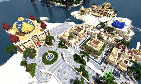 Скачать карту Мегаполис для minecraft 1.4.7 бесплатно