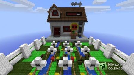 Cкачать карту Plants vs Zombies для minecraft 1.4.7 бесплатно