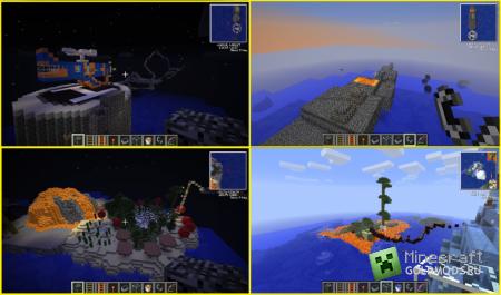 скачать карту «Выживание-приключение»для Minecraft 1.4.7 бесплатно