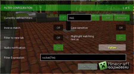 Скачать TabbyChat  для  minecraft 1.5.1 бесплатно