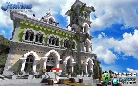 Скачать карту Italian villa для Minecraft