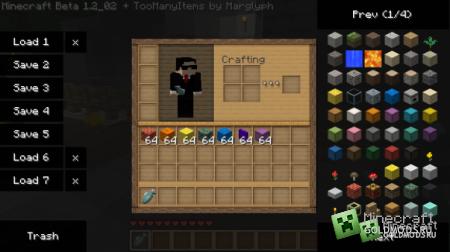 Скачать TooManyItems для Minecraft 1.5.2 бесплатно