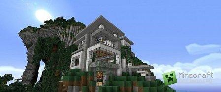 Скачать карту Modern Hillside House для Minecraft бесплатно