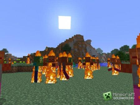 Скачать мод Zombie Sunscreen для Minecraft 1.5.2 бесплатно