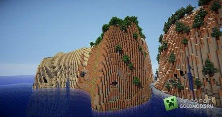 Скачать карту Apple Island для Minecraft бесплатно