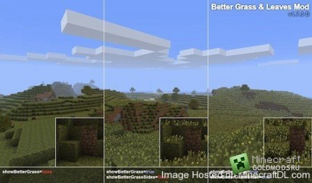 Скачать мод BetterGrassAndLeaves для Minecraft 1.6.2 бесплатно