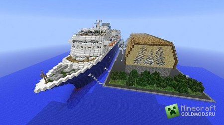 ������� THE RAY- Docked - Minecraft Cruise Ship ��� minecraft