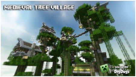 Скачать Medieval Tree-House Village для minecraft