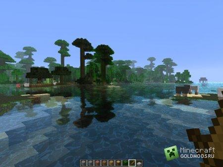 Скачать Water shader mod для minecraft 1.6.2