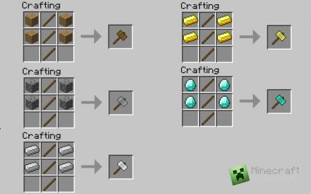 Скачать мод Hammer для Minecraft 1.6.2 бесплатно