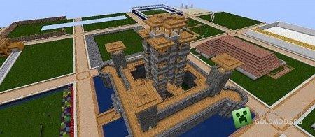 Скачать Japanese Chinese Castle competition - spawn для minecraft