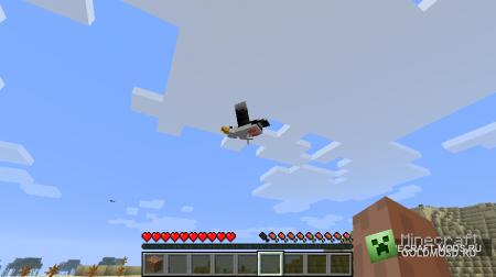 Birds Mod Alpha v0.6 для minecraft 1.2.5 (Скачать бесплатно и без регистрации)